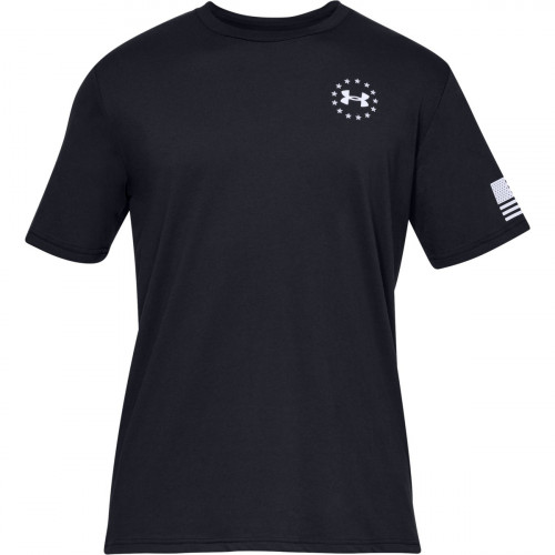Bucks Jakes Outfitters: Under Armour Men's Freedom Flag Short Sleeve Shirt Large