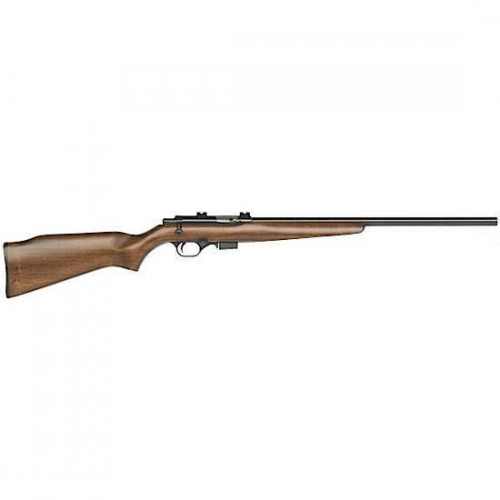 """Mossberg 817 Bolt Action Rifle .17 HMR 21"""" Bull Barrel 5 Rounds Weaver  Style Scope Base Wood Stock 