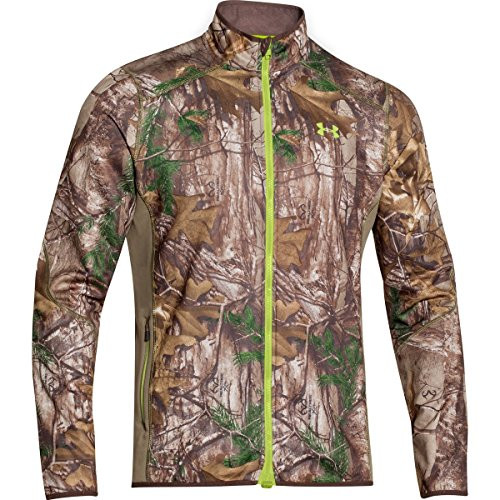 9bcc8ee17259a Under Armour Coldgear Infrared Scent Control Fleece Full Zip Jacket - Men's  Realtree Ap Xtra / Velocity XXL